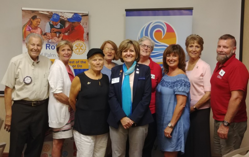 District Governor Jeannette Loftus with Club Members